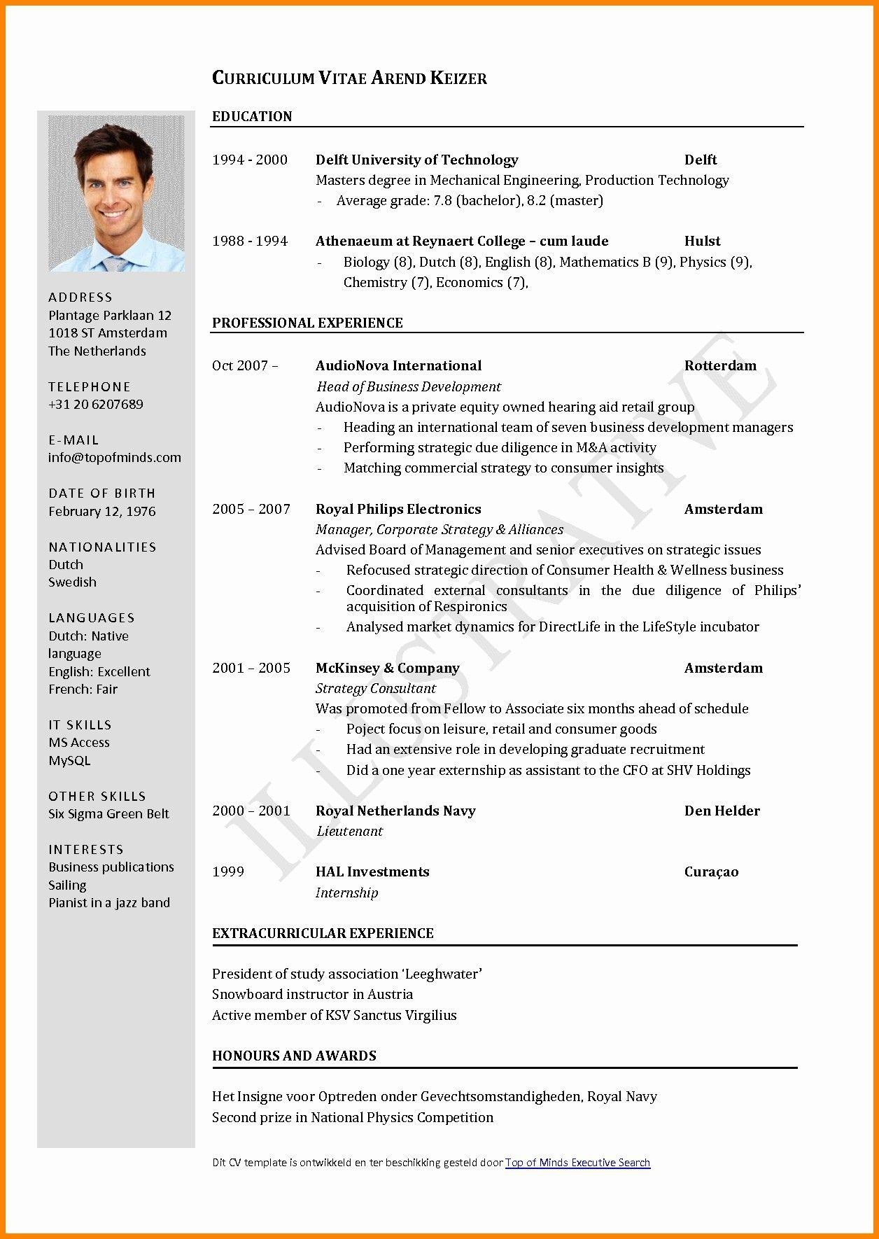 Cv Format For Job In Bangladesh Pdf Download Curriculum Vitae Cv