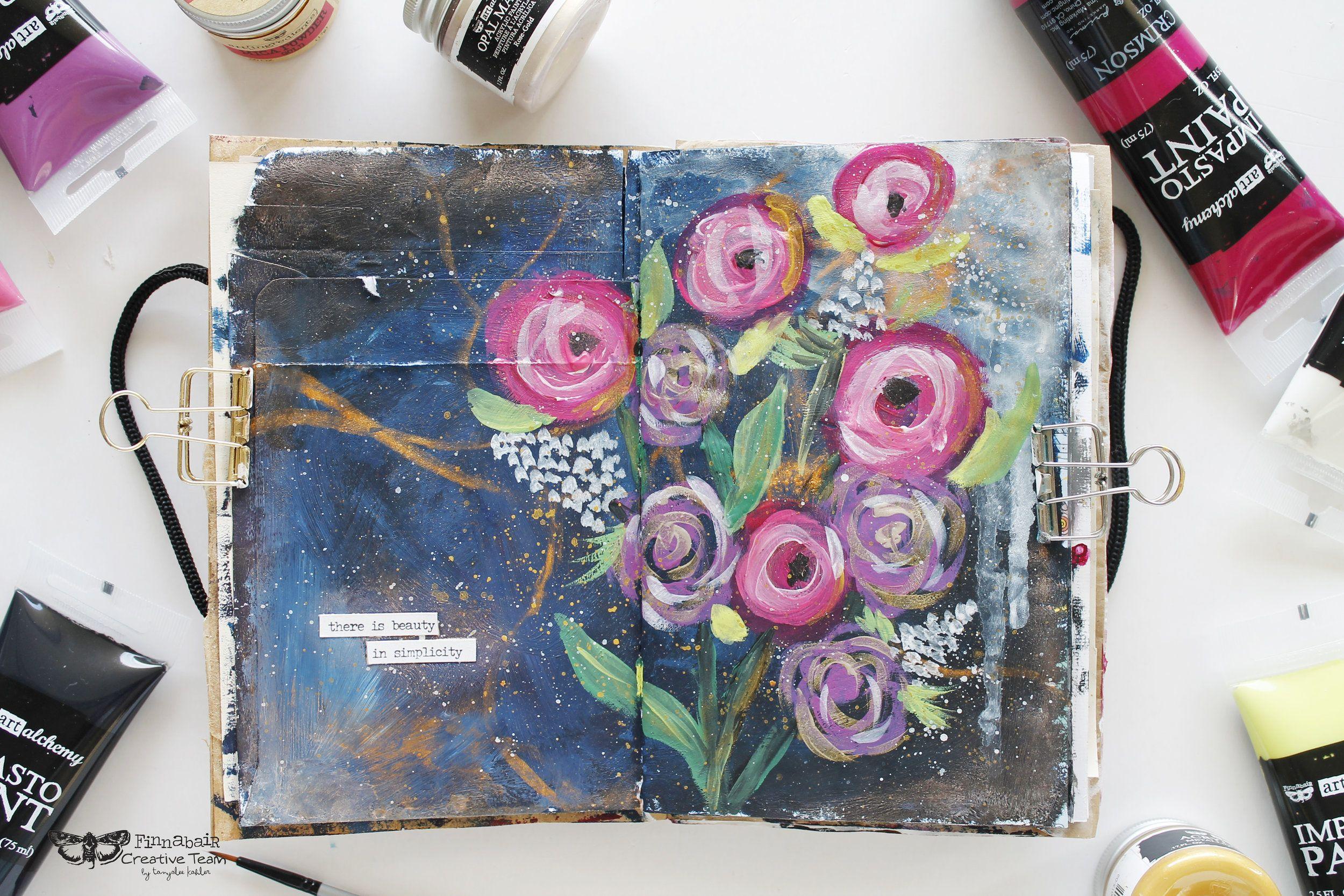 Gallery Finnabair At Michaels Prima Watercolor Art Journal