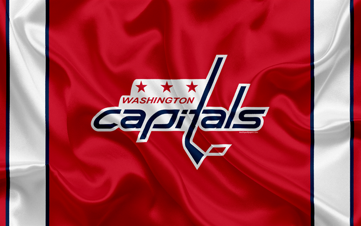 Download wallpapers Washington Capitals, hockey club, NHL, emblem, logo, National Hockey League, hockey, Washington, USA, Metropolitan Division
