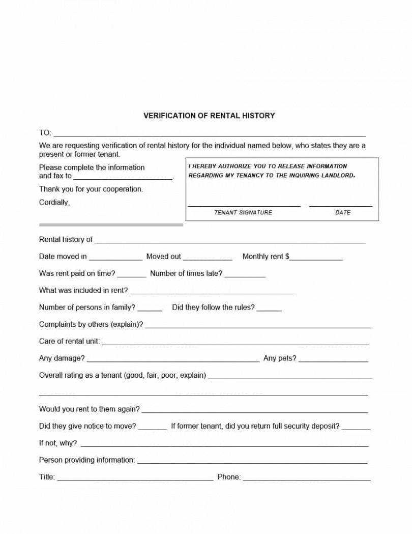 Explore Our Example Of Verification Of Deposit Form Template Being A Landlord Rental Certificate Of Deposit