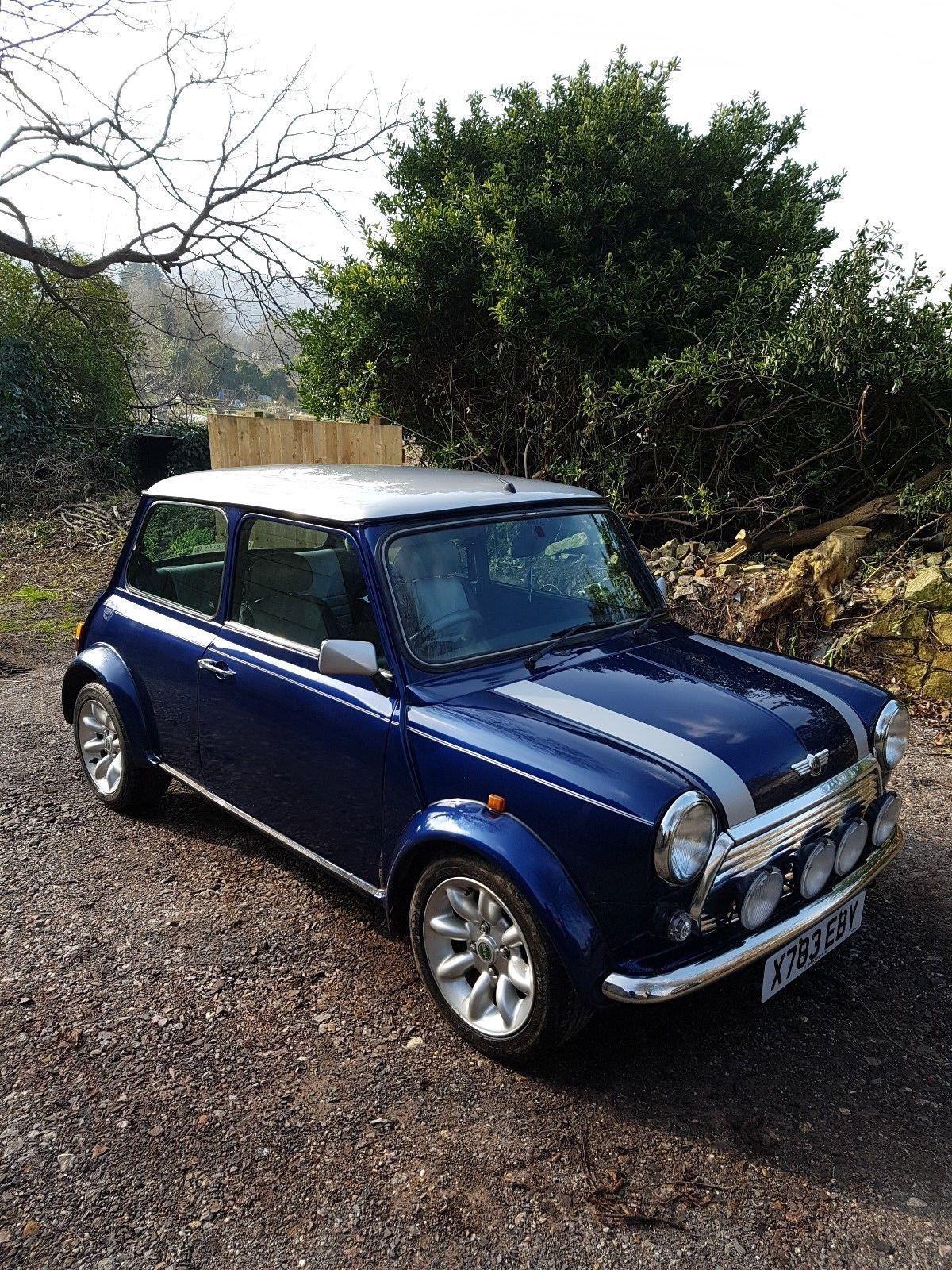 Classic Mini Cooper Sportspack 1 3i 2000 X Reg Tahiti Blue Uk