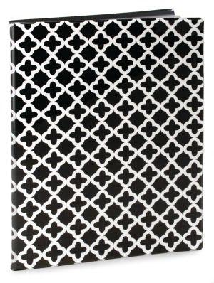 Quatrefoil Black White Presentation Book Pvc