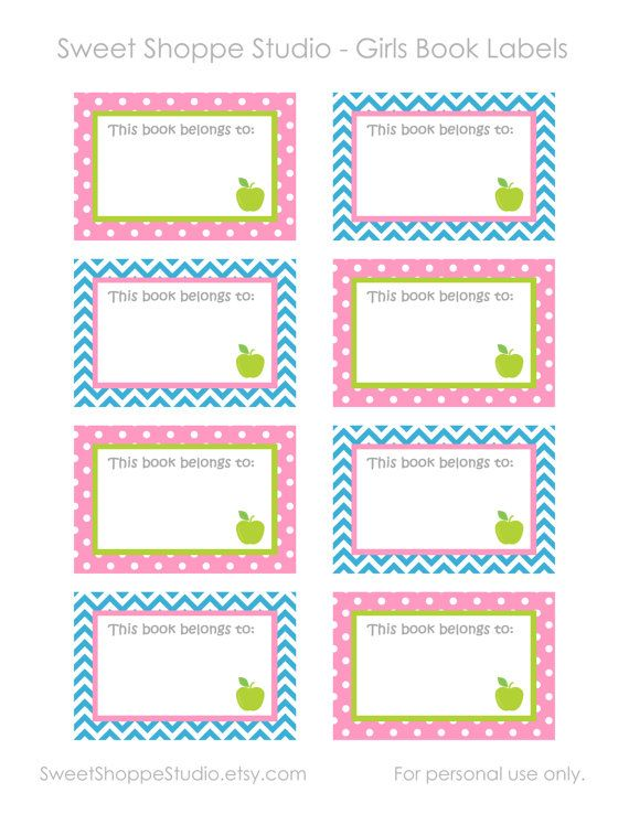 instant printable labels for school diy printable girls book labels this book belongs to. Black Bedroom Furniture Sets. Home Design Ideas