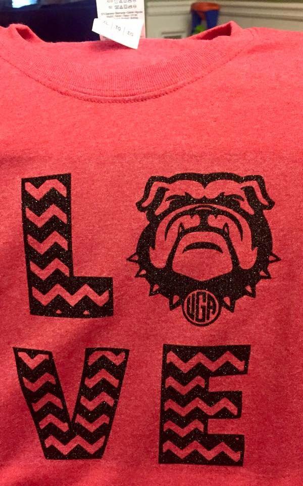 Glitter or Non Glitter UGA University of Georgia Bulldogs shirt Youth -  Adult sizes by ClassyCreationsByDZ db89951b0