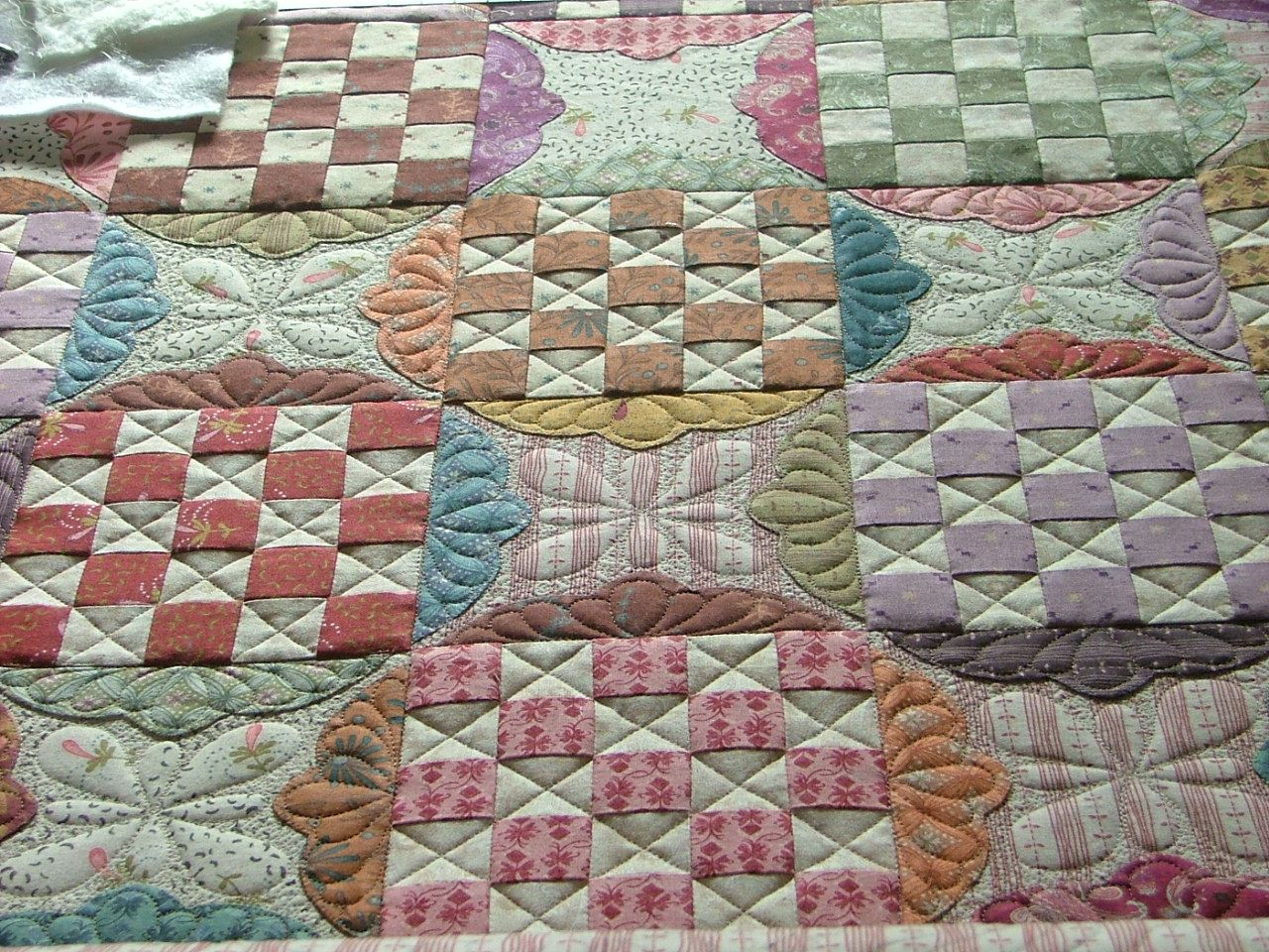 First quilt I did for Kim Diehl. One of her fabric line quilts.