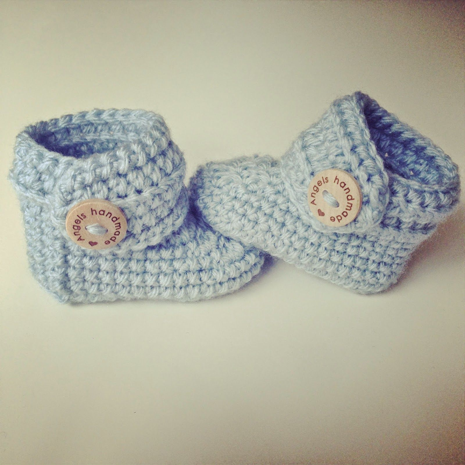 Angels handmade with love: Baby Booties gratis haakpatroon vertaald ...