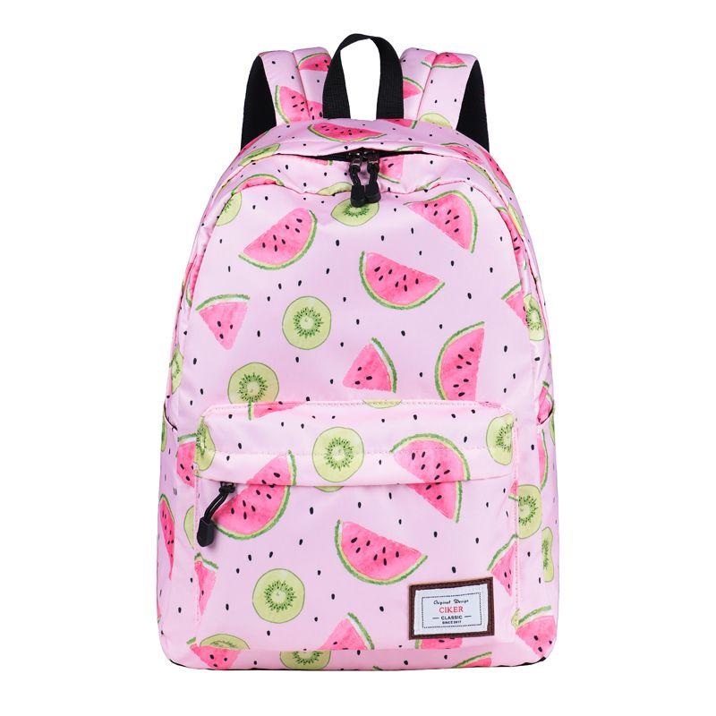 26fe938cf5 CIKER New Women Waterproof Backpack Fresh Cute Watermelon Printing School  Bags Backpacks For Teenage Girls Shoulder Bag Mochilas  backpacking   backpacks ...