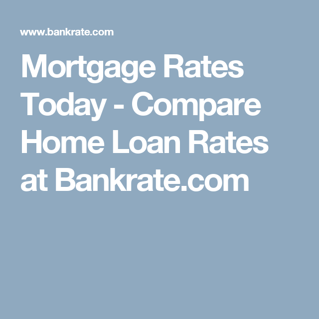 Refinance Rates Today >> Mortgage Rates Today Compare Home Loan Rates At Bankrate Com