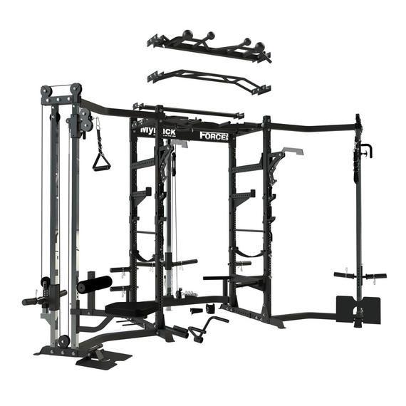 Myrack modular power rack 2 000lb weight capacity gym power