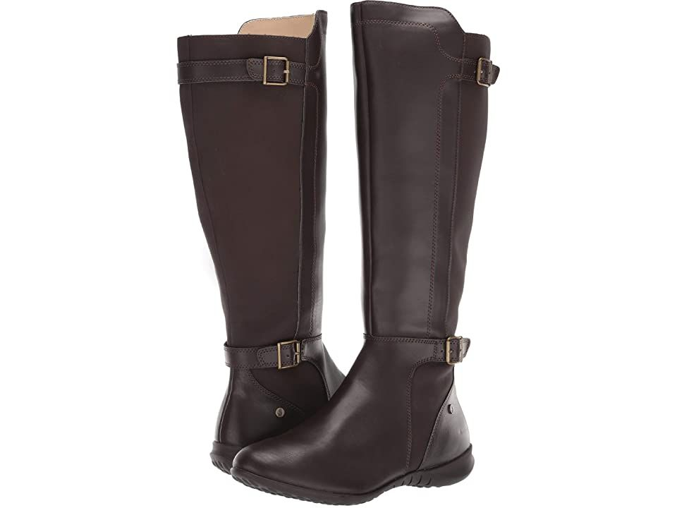 Hush Puppies Bria Tall Boot Dark Brown Pu Women S Dress Pull On Boots Bet On The Bria Tall Boot From Hush Puppies For Lasting In 2020 Boots Pull On Boots Tall Boots
