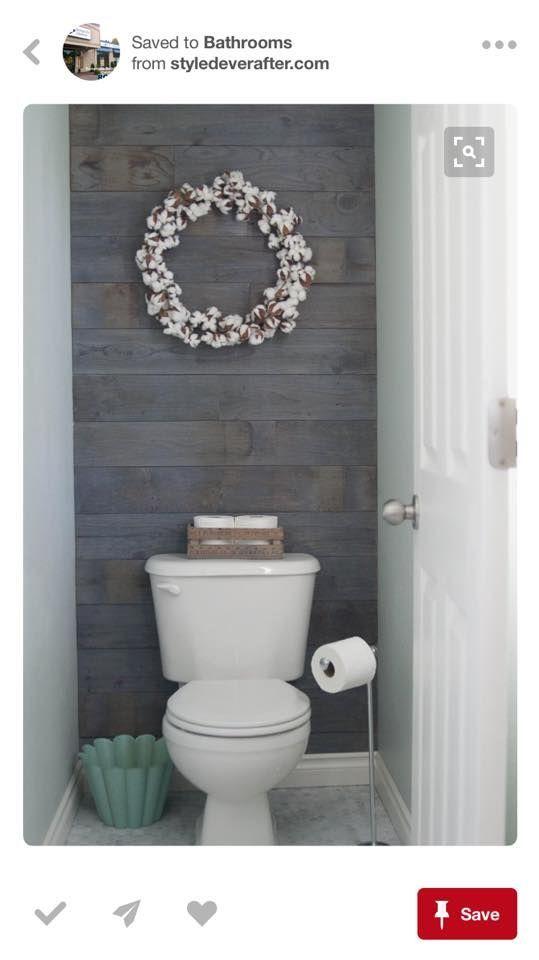 Really Really Liking This Shiplap Wall Bathrooms