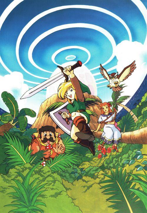 The Japanese Artwork Used On The Original Zelda Link S