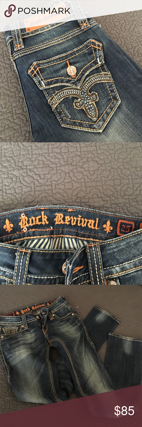 Rock Revival jeans Rock Revival jeans. Never been worn. Skinny Rock Revival Jeans Skinny