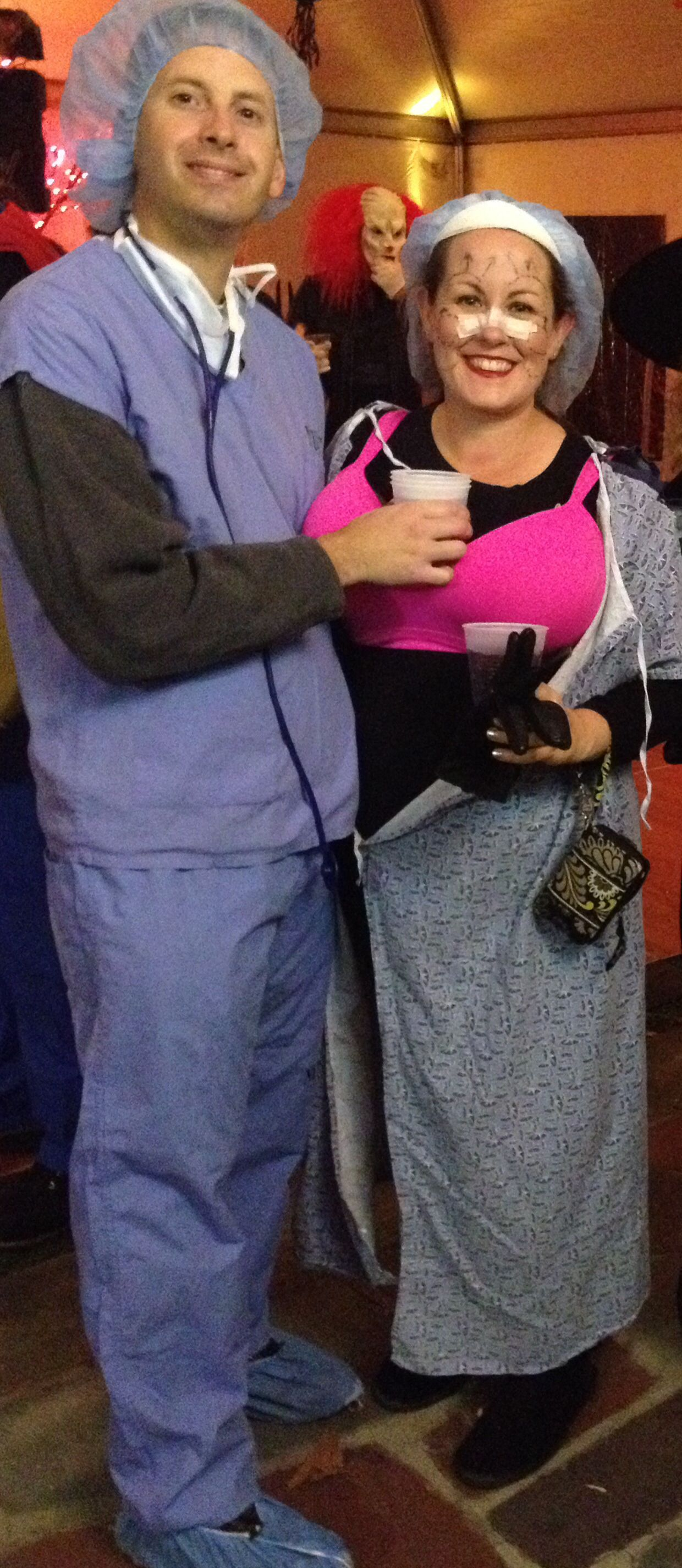 Halloween Costume Couple Plastic Surgeon And Patient Halloween