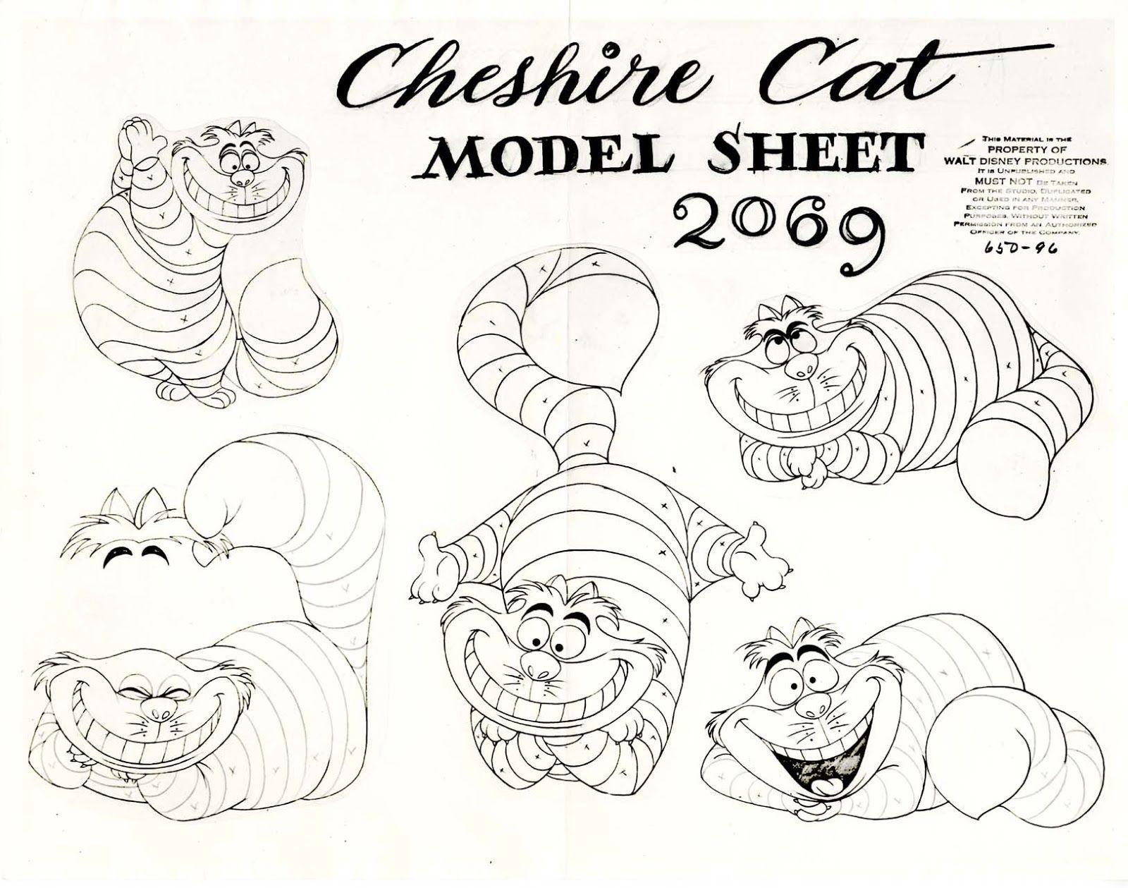 Vintage Disney Alice in Wonderland Animation Model Sheet 650 96