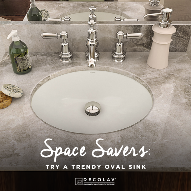 Oval Sinks Have A Softer Appearance And Give You More Counter