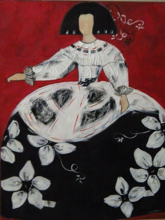 Menina floral meninas pinterest cuadro moderno y - Cuadro meninas moderno ...