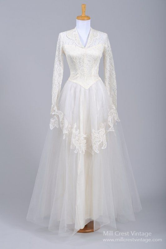 1940s wedding gowns | wedding dress 1940s Grace Kelly Style Lace ...
