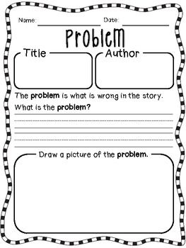 Story Elements Worksheets {for Reinforcement} | Graphic organizers ...