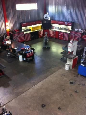 Motorcycle Shop Set Up