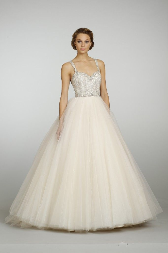 Lazaro bridal champagne sparkle tulle ball gown style for Where to buy lazaro wedding dresses