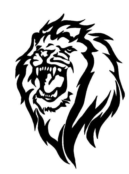 Tribal Lion Tribal Lion Lion Head Tattoos Tribal Lion Black Dragon Tattoo