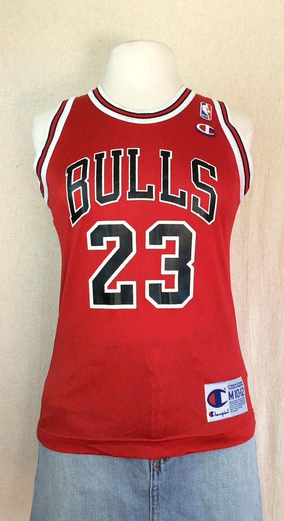 46979cea6df Vintage Champion Michael Jordan Bulls Jersey. Vintage Throwback NBA Jersey.  Women's Small NBA Jersey. Number 23 Bulls Jordan Jersey.