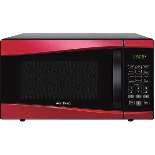 Microwave Oven Red Retro Nostalgia Countertop Electrics Kitchen