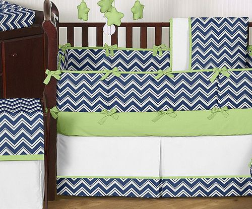 Navy Blue Crib Bedding