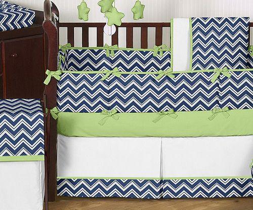 Navy Blue Crib Bedding Cheap Navy Blue White Green Baby Bedding