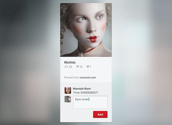 Today's freebie on dribbble is a minimal Pinterest widget. This free PSD has been designed by Mani.