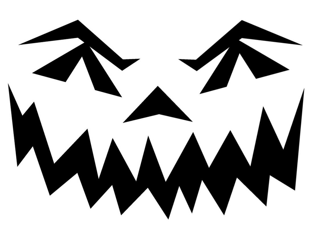 Halloween pumpkin stencils to print pin scary pumpkin for Scary jack o lantern face template