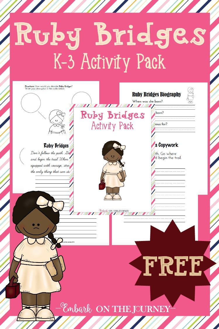 Ruby Bridges Activities And Printables For Black History Month Ruby Bridges Activities Ruby Bridges Black History Month Activities [ 1125 x 750 Pixel ]