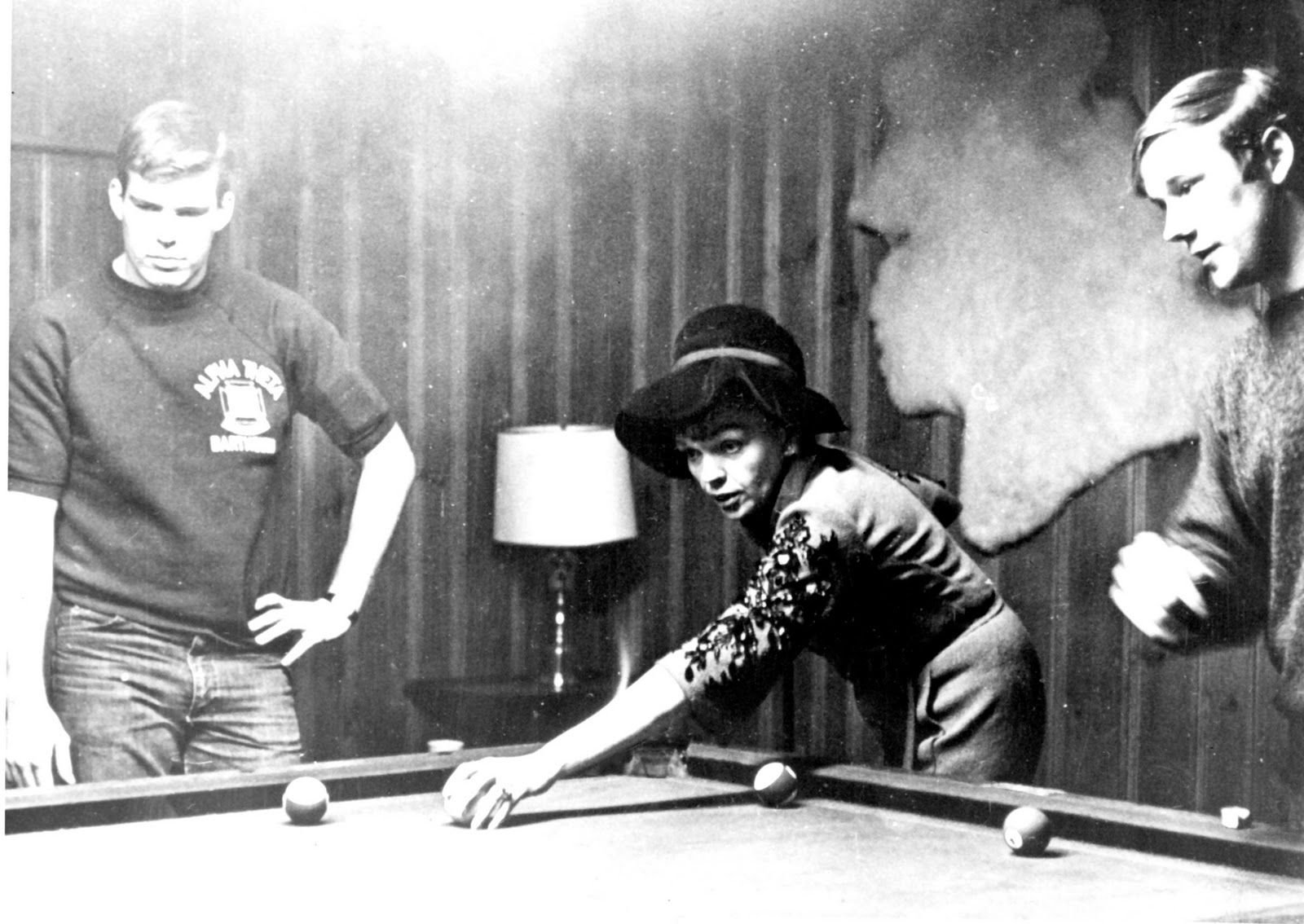 Judy playing pool - I have this photo (bought it off eBay. Classic.
