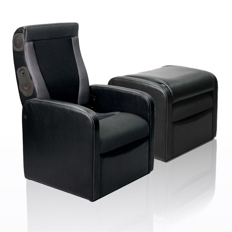 Gaming Chair Ottoman With Express 2 0 Speaker System Ottoman Folds Out To A Gaming Chair Express 2 0 Speaker Syst Chair And Ottoman Seat Cushions Room
