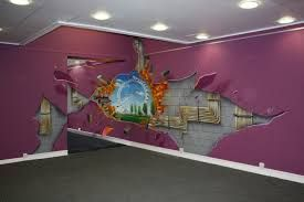 Image Result For 3D Wall Painting Art