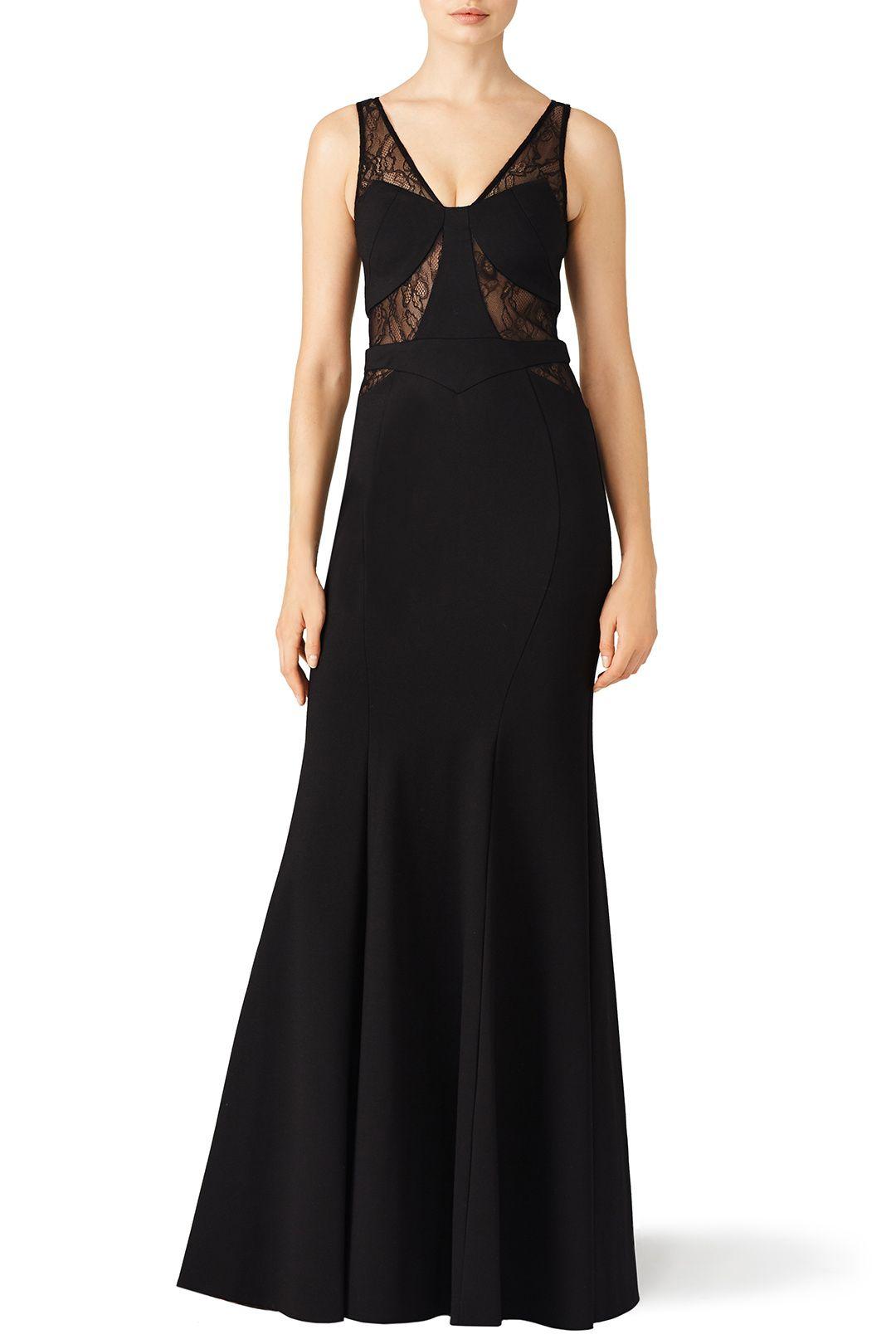 Black Lace Poise Gown   Pinterest   Black laces, Gowns and Dream ...