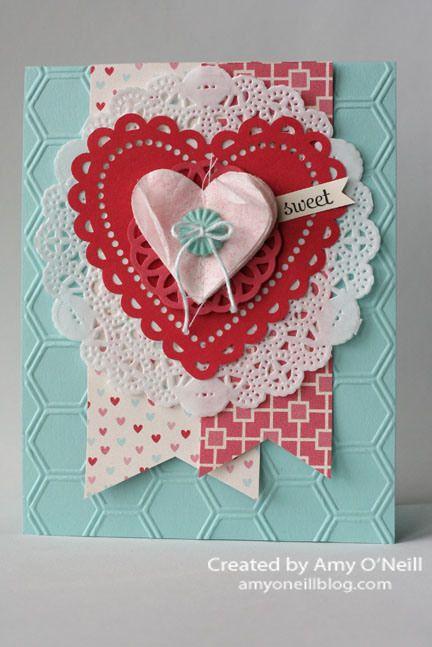 a doily valentine