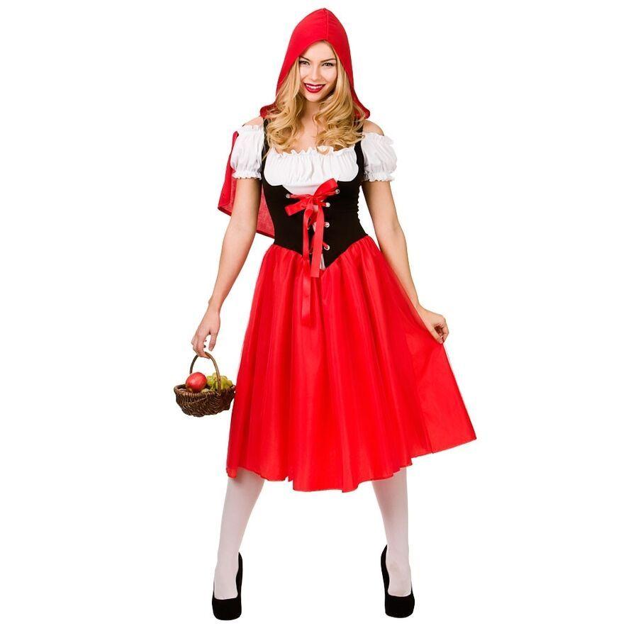 Kids Miss Hood Little Red Riding Dress Book Week Fancy Girls Cosplay Costume