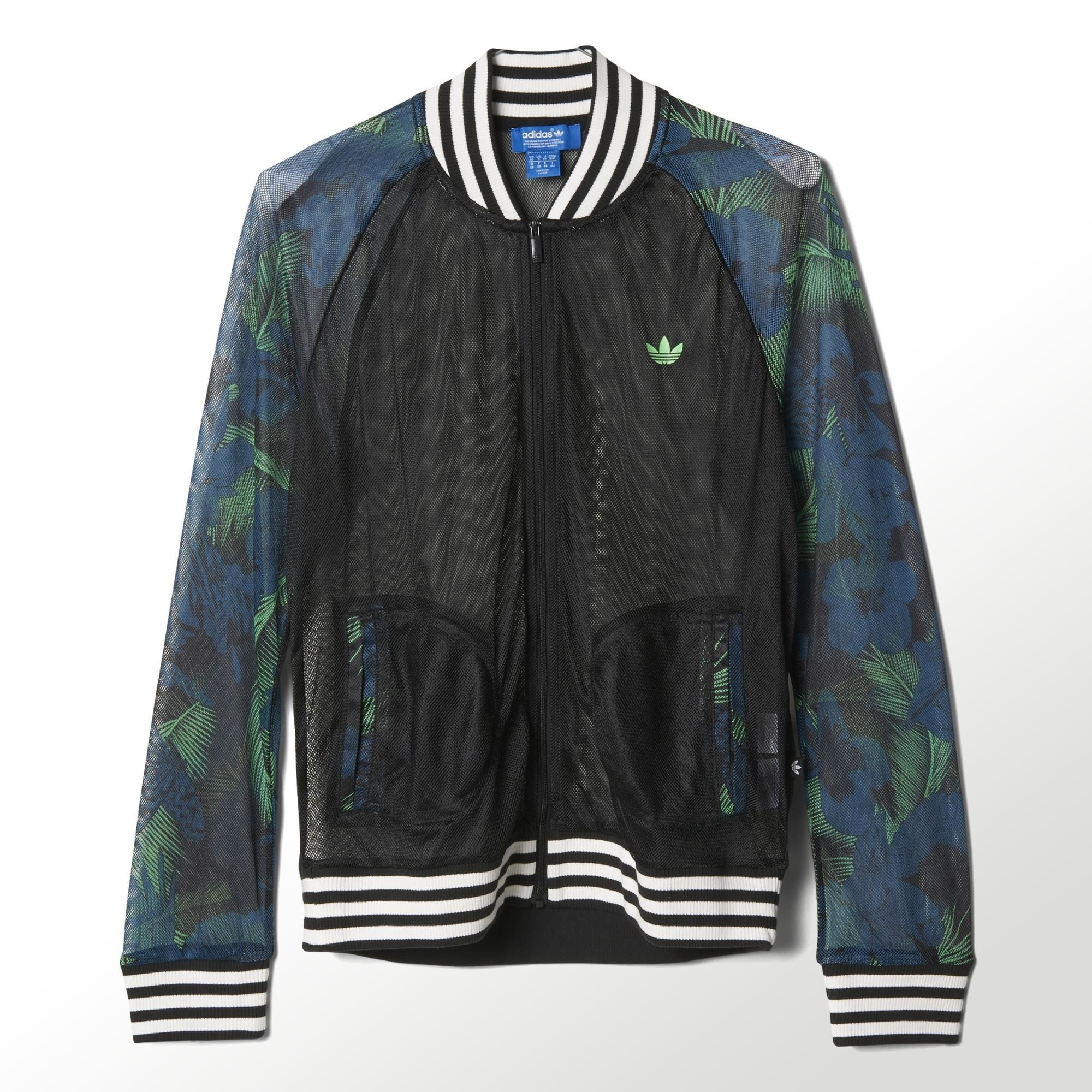 A breezy summer take on the track jacket, this women's Hawaii Superstar  Mesh Track Jacket