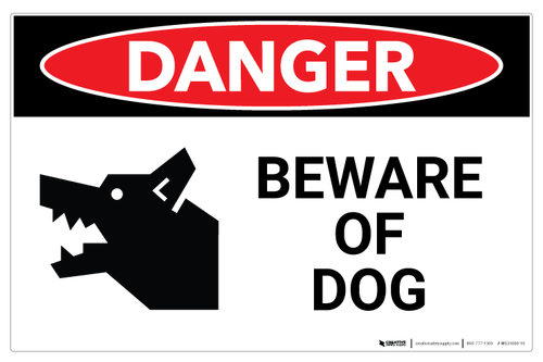 1x DANGER PROTECTED BY LABRADOR WARNING FUNNY STICKER