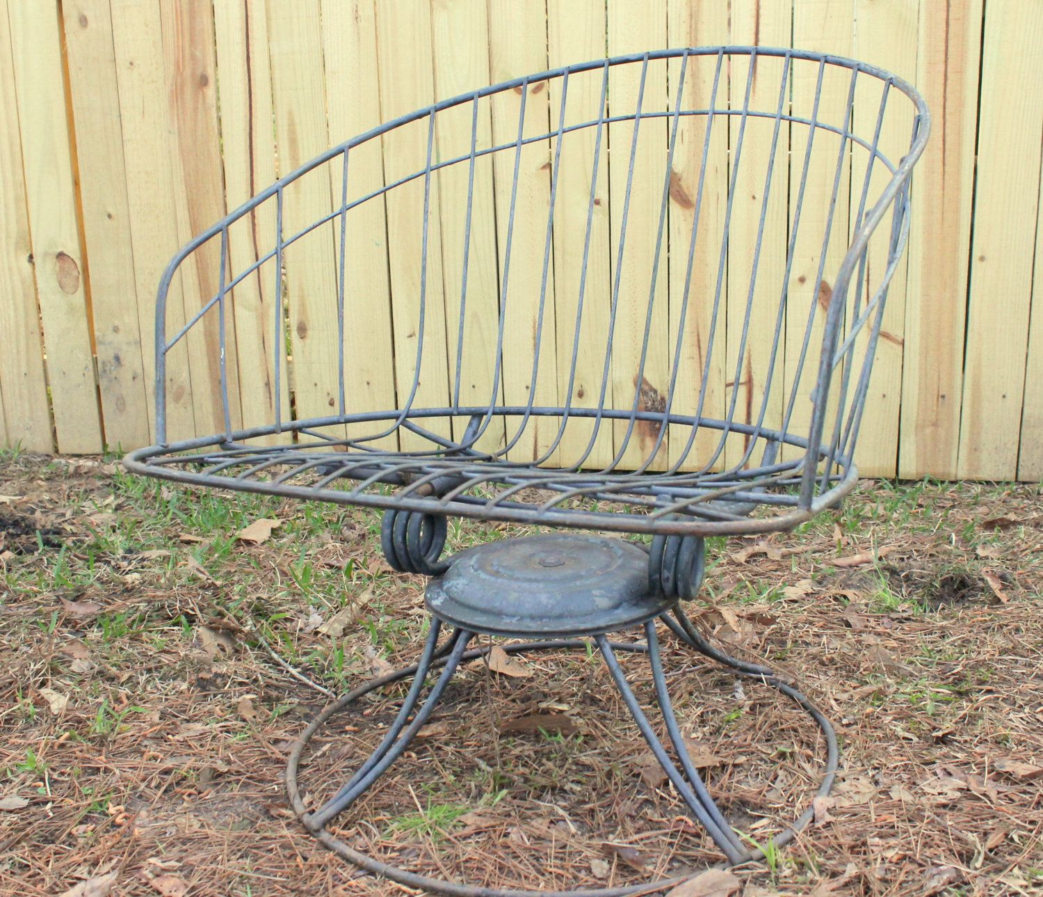 Vintage mid century modern metal folding wire mesh patio chairs - Vintage Patio Furniture Lawn Chair Outdoor Paitio Furniture Homecrest Wire Mid Century Retro