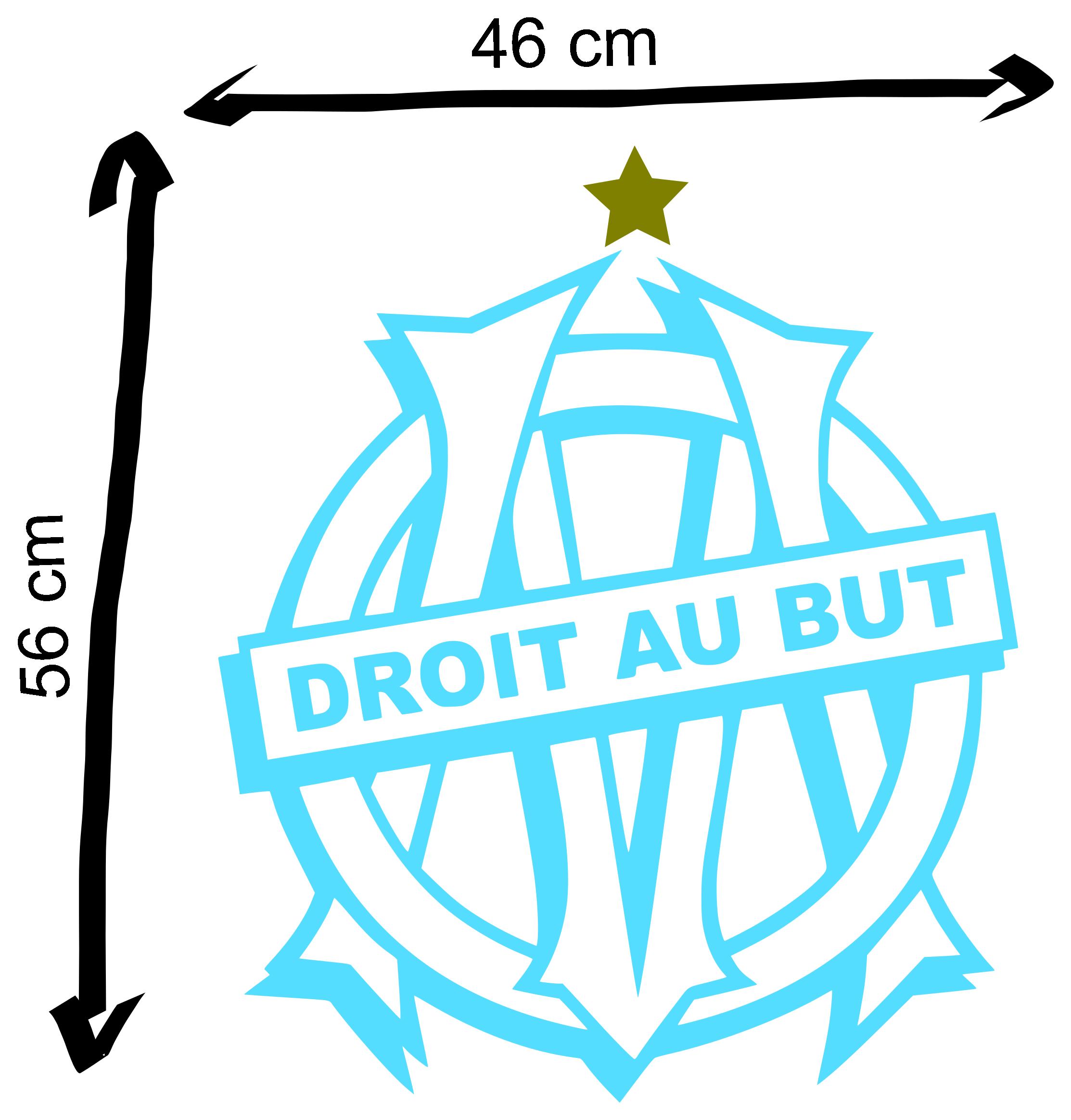 Sticker olympique de marseille droit au but id es pour - Logo de l olympique de marseille ...