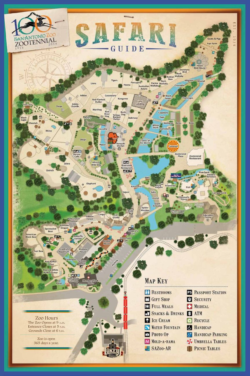 san antonio zoo - zoo map | trip planner | pinterest