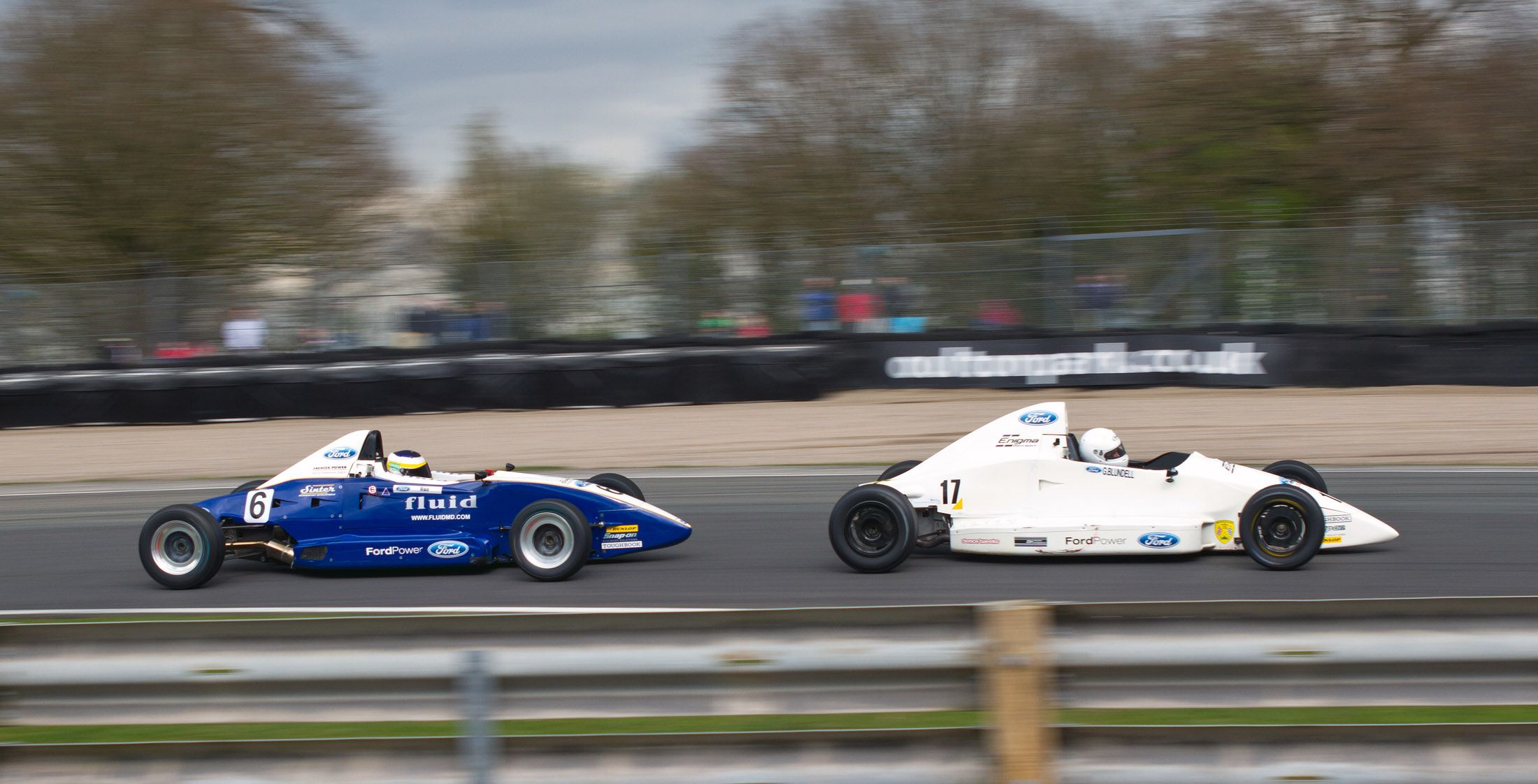 Old School Formual Fords in race mode