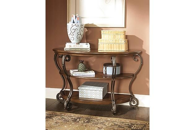 Medium Brown Nestor Sofa/Console Table View 1 Home Sweet Home