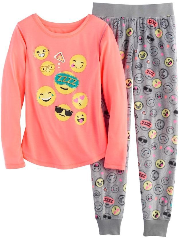 SO Girls 4-14 SO® Glitter Graphic Tee   Fleece Bottoms Pajama Set ... 0e939674c