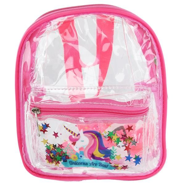 Odin Kids Clear Backpack with Unicorn and Star Design