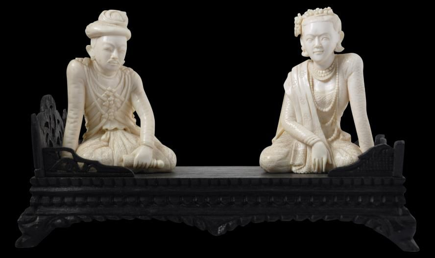 King Thibaw Ivory Carving Burma