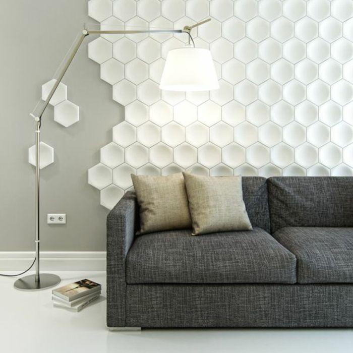 Le panneau mural 3d un luxe facile avoir for Decoration murale hexagonale